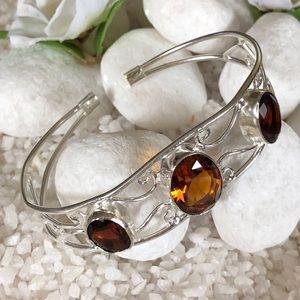 Jewelry - ✨🛍GOLDEN TOPAZ CUFF BRACELET ✨🎀